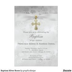 Sold #Baptism #Silver #Roses Available in different products. Check more at www.zazzle.com/graphicdesign
