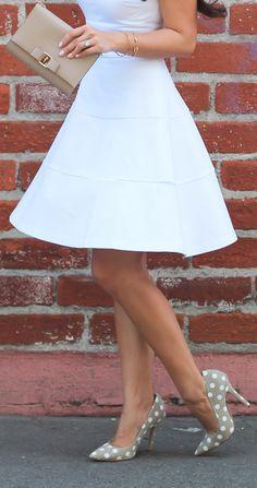 Love those polka dot heels