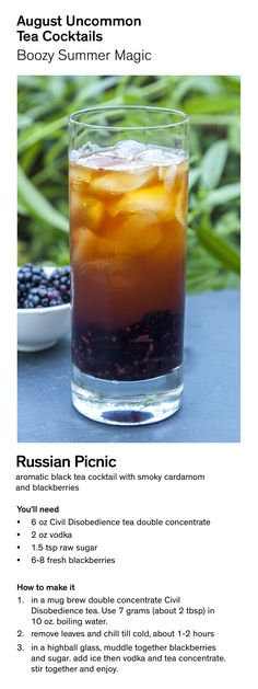 Make Russian Picnic - an August Uncommon Tea Cocktail.