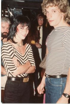 Rex with rock icon Joan Jett. The stripes definitely scream early 1980s.