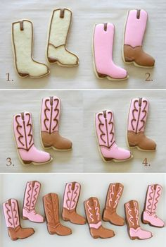 Cowgirl Boot Cookies #food #cookies #sweets #dessert www.loveitsomuch.com