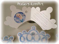 Invitation anniversaire couronne Princesse Reine des Neiges : Autres papeterie par ateliers-ross-art