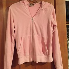 Worn twice, velour Juice Couture jacket baby pink, pristine condition Juicy Couture Jackets & Coats