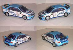 Almere Rally 2008 Mitsubishi Lancer Evolution IX Paper Car Free Paper Model Download
