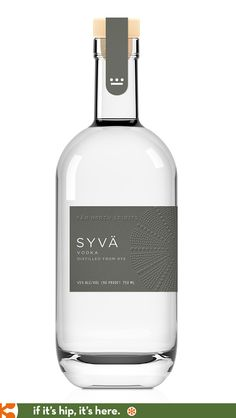 Soon to be released, new for 2015. Syvä Vodka from Far North Spirits has a beautiful bottle and embossed label design.