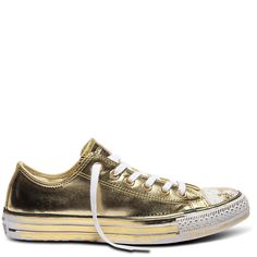 Shoe heaven...Chuck Taylor All Star Chrome Leather Gold White Black | Free Shipping * | Buy authentic sneakers and gear direct from Converse