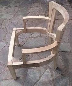 esqueleto silla matera con brazos Steel Furniture, Wooden Furniture, Furniture Design, Barris, Wooden Door Design, Decoupage Furniture, Dinning Chairs, Sofa Frame, Vintage Sofa