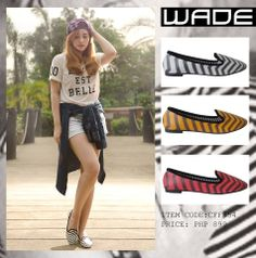 Hey gorgeous!  How about spicing up that outfit of yours with stripes?  Grab these slip-ons and break necks at WADE located at the 2nd level of SM City Manila!  #WadeShoesPhil #WadeSpring201