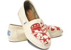 Vote 2012 Republican Women's Classics   TOMS.com - Takeaway: Republican are sold out in everything but 5, 5 1/2 and 6.  Dem are available in everything but 10,11 and 12. Make of that what you want.