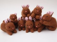 eco friendly, toy rabbit, all natural toy, small stuffed toy, waldorf toy. $23.00, via Etsy.