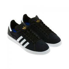 adidas Originals - Campus AS Black/Running White/Metallic Gold Adidas Campus, Adidas Originals, Adidas Sneakers, Street Wear, Metallic Gold, Running, Stylish, Skate, Shoes