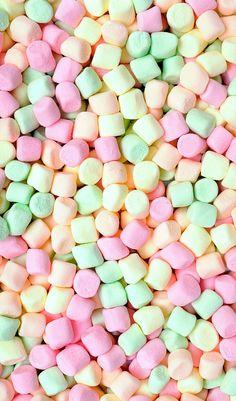 Imagem de wallpaper, marshmallow, and sweet Food Wallpaper, Pastel Wallpaper, Cute Wallpaper Backgrounds, Pretty Wallpapers, Wallpaper Iphone Cute, Screen Wallpaper, Food Backgrounds, Wallpaper Pictures, Wallpaper Wallpapers