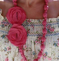 collar tela con tutorial