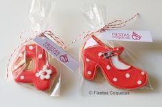 Galletas decoradas número flamenco
