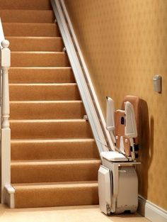 www.PatriotMobilityInc.com has a full catalog of mobile stair lifts that can help service disabled occupants and handicap vets for any sized home. Follow us on Pinterest, Facebook & Twitter for special offers and discounts on mobile units, scooters, stair lifts, porch lifts, lift systems and wheel chair ramps. #stairlifts