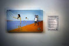 As artes plásticas inspirando a poesia e a poesia inspirando as artes plásticas, no Espaço Zélia Arbex, na Vila, Volta Redonda - RJ (09/04/2015).