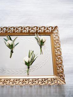 Single White Rose Boutonniere | CARMEN SANTORELLI PHOTOGRAPHY | MEADOWSWEET EVENTS | PLENTY OF PETALS | http://knot.ly/6492BI6Ku | http://knot.ly/6494BI6Kr