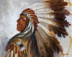 Native American Oil Paintings  | Process | Native American Indian oil painting | James Ayers Studios
