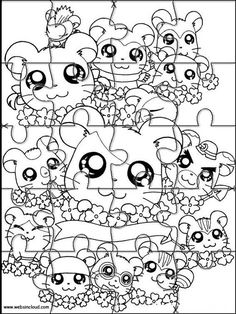 Printable jigsaw puzzles to cut out for kids Hamtaro 19 Coloring Pages