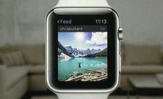 Checking Instagram right from your Apple Watch .This is going to be cool.