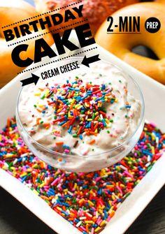 The best cream cheese you will ever taste – Birthday Cake Cream Cheese.