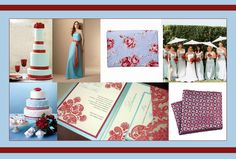 love the light blue and burgedy/red