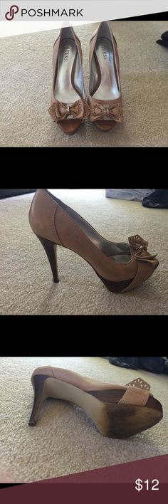 a5c800616d2da5 Guess Heels Guess Heels with bows. My feet grew with my babies so they  don t fit me any more!