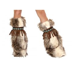 Knee high, faux fur legwarmers with fringe and pattern detail. (Includes a set of 2 legwarmers) Fringe and Fur Legwarmers, Faux Fur Eskimo Costume Legwarmers, Fringe Legwarmers Rave Costumes, Indian Costumes, Cool Costumes, Halloween Costumes, Halloween Ideas, Unique Costumes, Christmas Costumes, Costume Ideas, Rave Accessories
