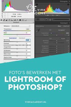 Lightroom of Photoshop: welke Adobe fotobewerkingsprogramma moet je kiezen als je jouw foto's wilt leren bewerken. Wat zijn de verschillen tussen de programma's en wat zijn de overeenkomsten? Zo heeft de RAW-editor van Photoshop bijna allemaal dezelfde fu