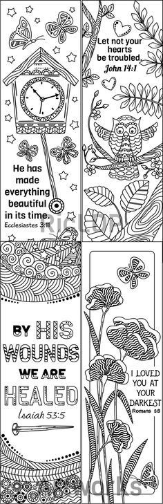 Superhero Coloring Bookmarks : 8 bible verse coloring bookmarks and scriptures