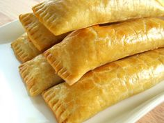 Guyanese Cheese Rolls - Every weekend my family made our routine trip to Liberty Avenue in Queens, NY to purchase our Guyanese baked goods for the week. Guyana Food, Cheese Roll Recipe, My Favorite Food, Favorite Recipes, Tandoori Masala, Cheese Straws, Cheese Rolling, Caribbean Recipes, Caribbean Food