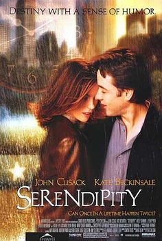 Serendipity (2001) | directed by Peter Chelsom | starring John Cusack, Kate Beckinsale, Jeremy Piven, and Bridget Moynahan