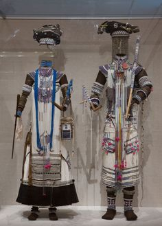 Wedding ensemble for a bride and groom, Thembu people, Eastern Cape, South Africa, 1950's.