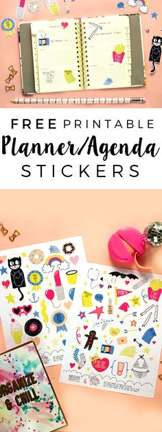 FREE printable planner stickers | The Glitter in My Tea