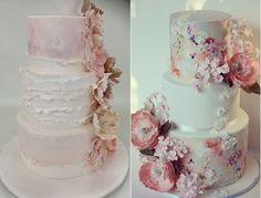Amazing watercolour wedding cakes