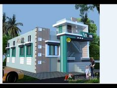 3d Home Design, Duplex House Design, House Front Design, Building Elevation, House Elevation, House Layout Plans, House Layouts, Front Elevation Designs, Wooden Main Door Design