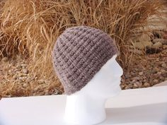 Knit Men's Wool Hat by stickshooksandyarn