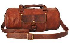 Leather Gym Duffel Bag