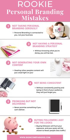 Avoid destroying your business and brand, be sure to avoid these personal branding mistakes learn how to make money online from affiliate marketing Personal Branding Strategy, Branding Your Business, Business Marketing, Content Marketing, Affiliate Marketing, Internet Marketing, Self Branding, Branding Ideas, Business Logos