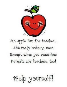 Parent Open House @deb rouse schwedhelm rouse schwedhelm rouse schwedhelm Curtis should we do this? just grab a buncha apples