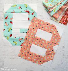 QAL – Sweet Baby Girl alphabet letter quilt blocks