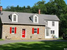For sale: $350,000. Privacy embraces this unique and charming historic Hugo Freer III stone house Circa 1750 with many original early details on a 14 plus acres with a barn and pond. The original house dates back to the late 18th century and is a classic example of French Huguenot period architecture and style. A beautiful country kitchen, large dining and living rooms with stone and brick gas fireplaces, three bedrooms and 1 and 1/2 baths. The large flagstone back patio is the perfect…