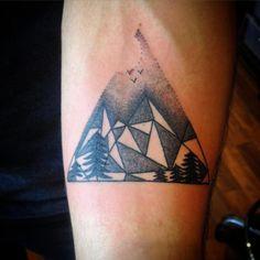 geometric mountain tattoo - Google Search