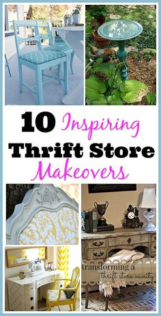 """Check out these 10 Inspiring Thrift Store Makeovers! The saying """"One man's trash is another man's treasure"""" couldn't be more true, especially when it comes to thrift store finds! You can find a lot of great furniture and decor items that are ready for use as soon as you get them home! Others may need some work to update them to fit into your decor. But for the amount you save by doing a simple DIY, it's worth it"""
