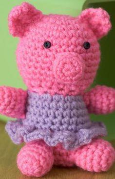 Little Crochet Piggy Free Softie Pattern from Red Heart Yarns