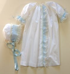 Heirloom Baby Gown with Bonnet by dkreid on Etsy