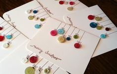 greeting card w/ buttons