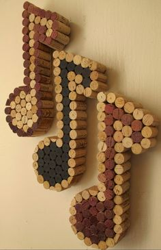 Wine Cork Music Notes Cork Colored or Wine Colored by LMadeIt, $60.00