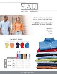 ¡¡¡MAUI marca nuevos códigos de vestimenta para la oficina, es ligera y elegante!!!! Conoce los nuevos colores en un corte clásico para esta temporada. www.bigbang.com.mx