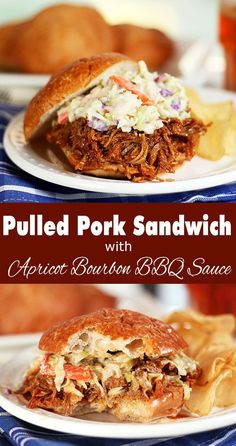 Pulled Pork with Apricot Bourbon Barbecue Sauce